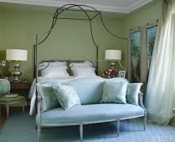 blue rug geometric rug green walls bedroom alessandra