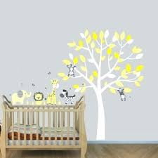yellow wall decals gray wall decals with jungle animal wall art for play rooms yellow duck yellow wall decals  on grey and yellow wall art nursery with yellow wall decals tree wall art nursery vinyl wall decals tree wall