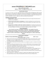 Loan Officer Resume Examples Retired Police Sample Law Enforcement Interesting Loan Officer Resume Examples
