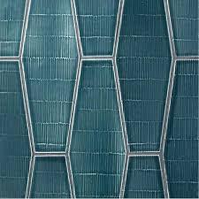 blue hex tile elongated hexagon tile hex white glass elongated hexagon tile light blue hexagon tile