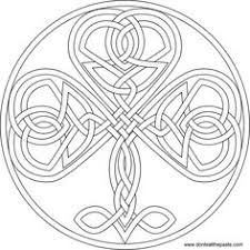 Small Picture Irish Coloring Pages Celtic Mandalas Irish Shamrock Mandala