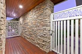 stacked stone cladding stone wall