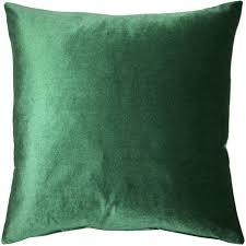 green velvet pillow. Corona Hunter Green Velvet Pillow 16x16 T