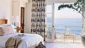Elegant coastal bedroom.