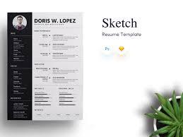 Sketch Resume Template For Designer Developers
