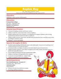 Fast Food Resume Skills Restaurant Cashier Resume Sample Resume