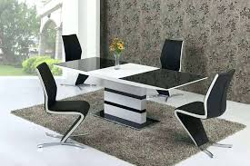 black gloss dining tables white gloss dining table large extending black glass white gloss dining table