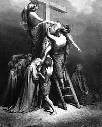 Image result for pictures of taking jesus down from the crowws