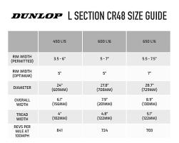 Dunlop Kart Tire Chart Buy Dunlop L Section Cr48 Tyre Demon Tweeks
