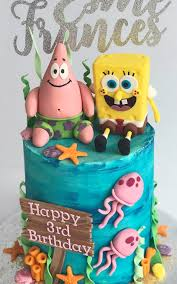 Spongebob Birthday Cake Celebration Cakes Antonias Cake Shop