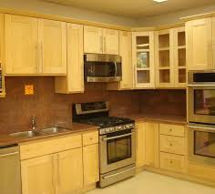 Small L Shaped Kitchen With Maple Cabinets White L Shaped Shape