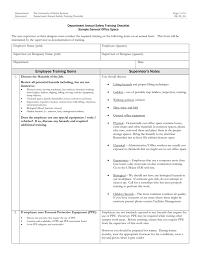 Department Annual Safety Training Checklist