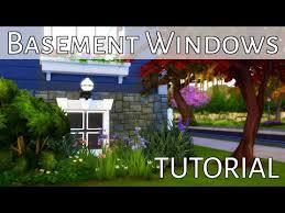 basement windows tutorial the sims 4