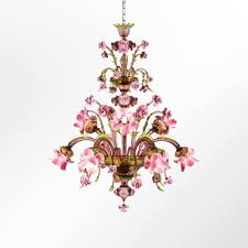 classic style handmade glass chandelier rosae rosarum blown glass chandelier by multiforme