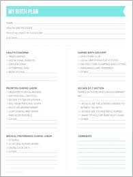 My Birth Plan Template Birth Plan Template Example Inspirational Hospital Natural
