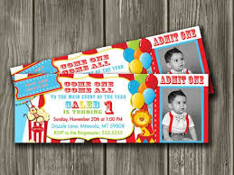 Circus Theme Invitation Circus Party Invitations For A Remarkable Party Design With