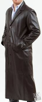 men s full length brown leather coat loxley superior sold out
