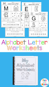 23 large alphabet letter templates designs premium. Printable Alphabet Worksheets To Turn Into A Workbook Fun With Mama