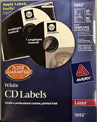 Amazon Com Avery Laser Cd Labels Matte White 40 Pack Office