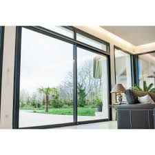 huge aluminum commercial double large sliding glass doors
