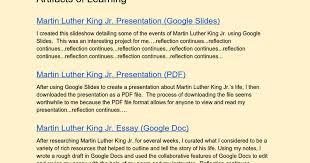 martin luther king jr digital portfolio on a google doc google docs