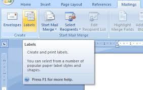 Creating Custom Labels In Microsoft Word 2007 Tutorial Thursday