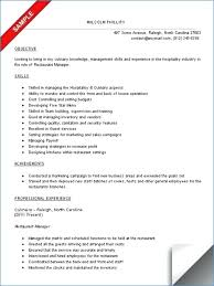 Fast Food Manager Resume Nppusa Org