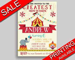 Circus Party Invitation Fascinating Circus Birthday Invitation Circus Birthday Party Invitation Etsy