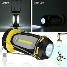 USB LED <b>Flashlight Rechargeable</b> Lantern <b>Outdoor Emergency</b> ...