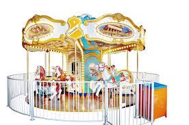 Amusement Park Design Game China New Design 12 Seats Deification Carousel Music
