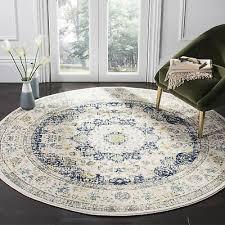 safavieh evoke vintage oriental ivory blue distressed rug 5 1 x