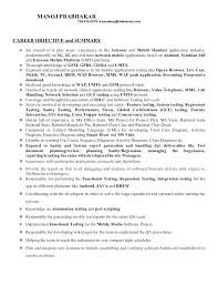 sample resume for experienced mobile application testing 2 inssite