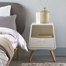 Scandinavian Pine Bedroom Furniture Anda Contemporary Solid Pine 1 Drawer Bedside Table La Redoute