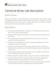 Job Description For Technical Writer 27 Writing – Yierdaddc.info