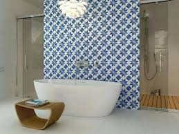 spanish bathroom tiles tile white and blue pattern bathroom feature wall  spanish style wall tiles