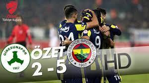 Giresunspor - Fenerbahçe Maç Özeti - YouTube