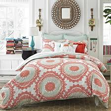 Anthologyâ?¢ Bungalow Reversible Comforter Set in Coral - Bed Bath ... & Anthology™ Bungalow Reversible Comforter Set in Coral Adamdwight.com
