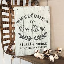 welcome to our home plank sign 14 19