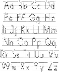 alphabet practice paper handwriting for kids