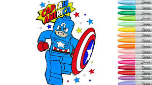 Lego Captain America Coloring Book Pages Marvel Avengers Comics Episode Infinity War Rscb Rainbow Sp