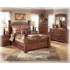 B258-78 Ashley Furniture Timberline Bedroom King Poster Bed