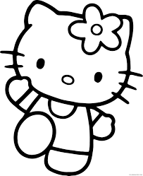 Spring hello kitty colouring pages to colour19b2. Free Hello Kitty Coloring Pages For Kids Coloring4free Coloring4free Com