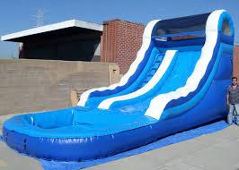 inflatable inground pool slide. Customized Blue Kids Inflatable Water Slide / Blow Up Pool Slides For Inground Pools B