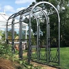 metal garden arches garden arches metal 4 cream metal garden arch argos