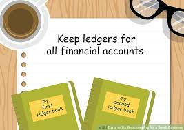 small ledger books how to do bookkeeping for a small business with pictures