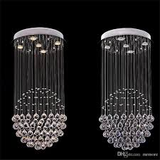 modern k9 crystal chandelier square shaped crystal chandelier led lighting luxury villa duplex hotel stairs light chandeliers vintage