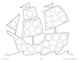 Marker Coloring Pages Free Dot Halloween Christmas Art Page Shelf