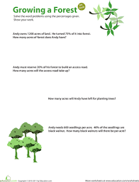 Percent Practice #7: Growing A Forest | Pinterest | Percents ...