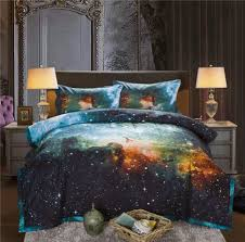 bedspread galaxy comforter bedding sets queen size universe outer space print blanket quilt set bedspread