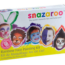 snazaroo rainbow face painting supplies and kits